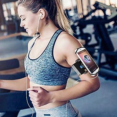 Brassard Sport pour iPhone X/XS/XR/XS Max/8/7/6/Plus Samsung Galaxy Note 9/S8/S7/S6/Edge/Plus LG Bracelet pour téléphone Portable pour Faire du Jogging et Faire du vélo par Wigoo
