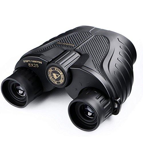 Prismáticos Binoculares, SGODDE Impermeables al Aire Libre VS8x25S Powerview Compacto Foco Fácil con el Caso para el Senderismo al Aire Libre, Tirando, Viajando, Observación de Pájaros