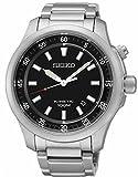 Seiko–ska685p1–Kinetic–Zeigt Herren–Kinetic Analog–Zifferblatt schwarz Armband Stahl Grau