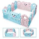 Mcc/® Box Bambini Recinto Bimbo in plastica con 6 pannelli Barriera Protettiva con Cancelletto