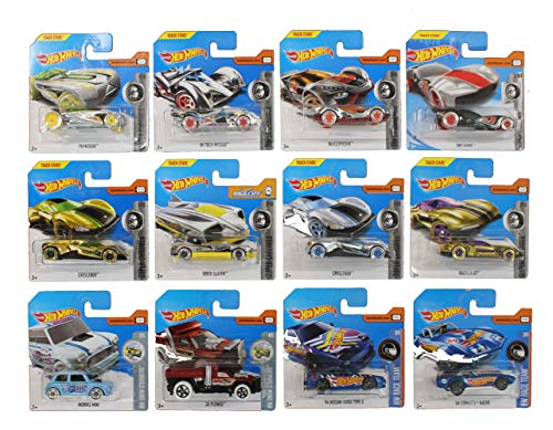 Unbekannt Mattel Hot Wheels 1: 64 Vehículos 5 Pack Plus Pegatinas de Arco