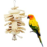 Spielzeug für Vögel, natürlicher Luffa, für Papageien, Aras, Graupapageien, Wellensittiche, Kakadus, Sittiche, Nymphensittiche, Unzertrennliche, Käfigspielzeug