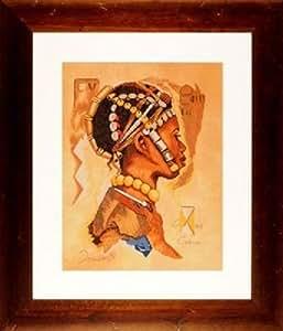 Lanarte–Culture Collection Kit broderie pour point de croix Motif africain homme