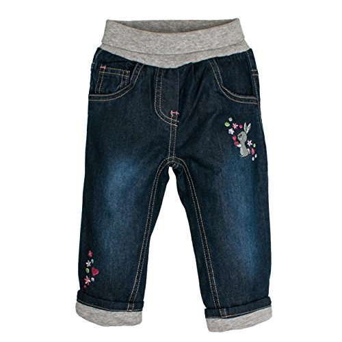 SALT AND PEPPER Baby-Mädchen B Jeans Lovely Hase, Blau (Original 099), 74