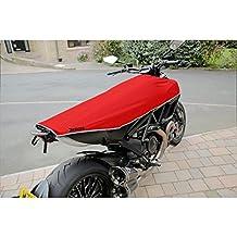 Calle Naked moto/motocicleta funda de viaje (rojo/plata)