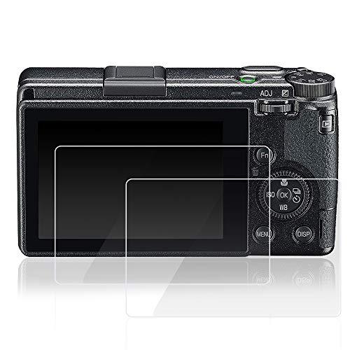 AFUNTA 2 Stück Displayschutzfolien kompatibel Ricoh GR III Digitalkamera, gehärtetes Glas, hohe Transparenz, Kratzfeste Schutzfolien