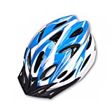 Hoovo Casco de Bicicleta con Ajustable Ligero Casco de Bicicleta de Montaña Racing breezier para Hombres y Mujeres (Azul)