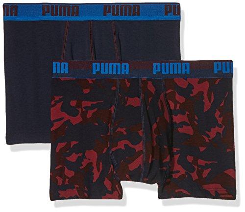 Puma Uomo Camo Print Boxer 2P Unterhose, Uomo, Unterhose CAMO PRINT BOXER 2P, team royal, L rhododendron
