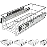 Jago Schublade Teleskopschublade für Küchen- oder Schlafzimmerschränke in verschiedenen Breiten (30/40/50/60cm)