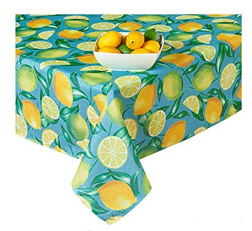 Newbridge Lemon Grove Print Reißverschluss Regenschirm Stoff Tischdecke 60 x 84 Rectangle Umbrella Turquoise, Blue, Yellow, Green, Lime