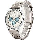 Tocoss(TM) Volledelstahlgewebe-B¨¹gel-Handgelenk-M?nner Uhren Online-Mode-Liebhaber-Armbanduhr Mode-Quarz-Taktgeber Movt [Sky Blue]