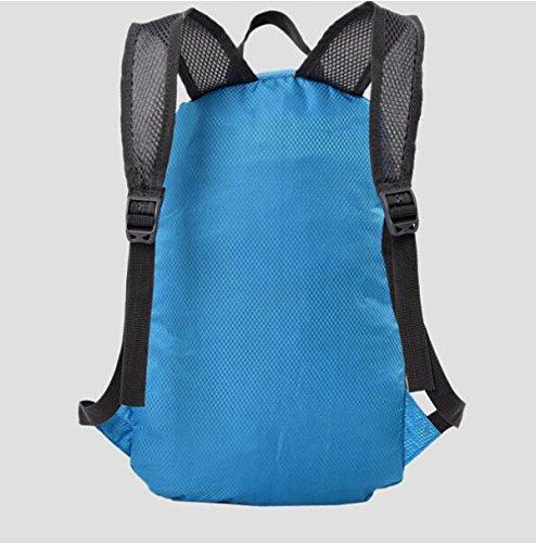 Outdoor Reise Faltbar Rucksack Sport Schultern Tasche Für Radfahren Blue