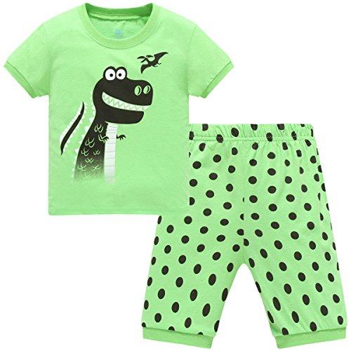 Hugbug Jungen Schlafanzug Kurz mit Dinosaurier 1 Jahre (Dinosaurier-kurz-schlafanzug)