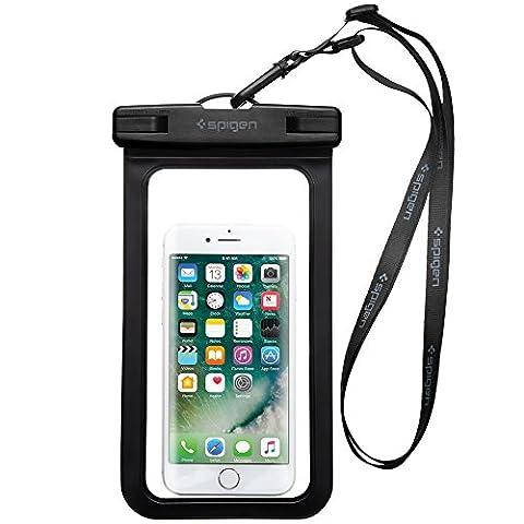 Wasserdichte Handyhülle, Spigen® [A600] *IPX8* [Schwarz] für Handys Premium Universal
