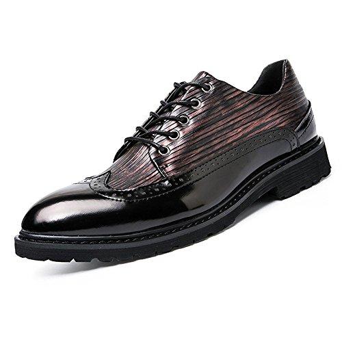 c941aac77b1 Business Oxford da Uomo Casual Primavera e Autunno Colorful Antique British  Point Brogue Shoes Moda Scarpe