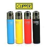 4Stück Feuerzeuge Clipper Soft Touch