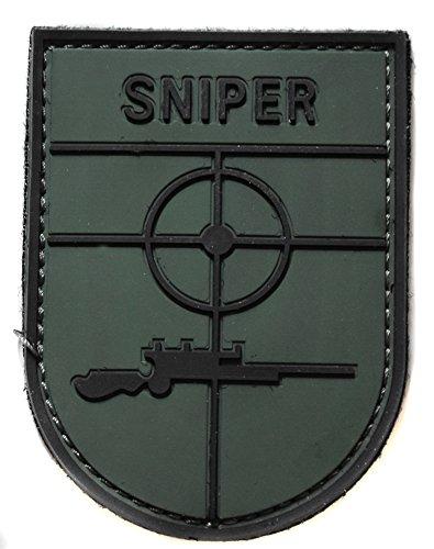 topt mili ecusson Insigne Sniper tireur d Elite Fusil Airsoft Paintball en PVC 3D Vinyl et Relief Army armée us USA 8x6cm
