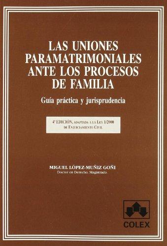 Las uniones paramatrimoniales ante los procesos de familia: guía práctica y jurisprudencia : adaptada a la Ley 1/2000 de enjuiciamiento civil