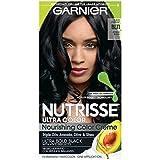Garnier Hair Color Nutrisse Ultra Color Nourishing Color Creme, Bl11 Reflective Jet Blue Black (Packaging May Vary)
