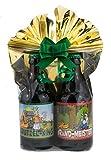 Grill-Bier 2er- Geschenkeset 2 in Folie und Schleife verpackt als Geschenk (Grill-Bier Geschenk-Set 2 (Brutzel-King + Brand-Meister))