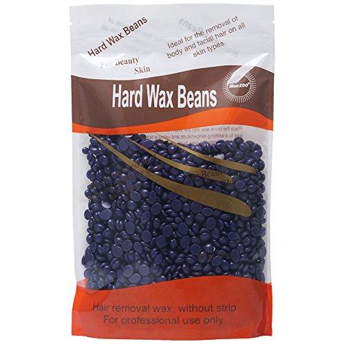 BlueZoo cera depilatoria en perlas depilación cera en perlitas cera caliente Waxing Hair Removal Wax Beans sin tiras 300g (Lavender)