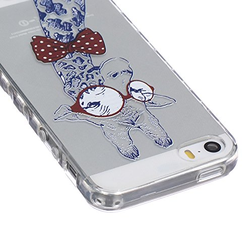 ZeWoo TPU Schutzhülle - BF033 / Don't touch my phone(Bär) - für Apple iPhone 5 5G 5S Silikon Hülle Case Cover BF031 / I Love Giraffe