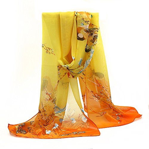 sanwood-ladies-chiffon-scrawl-flower-printed-wrap-scarf-yellow