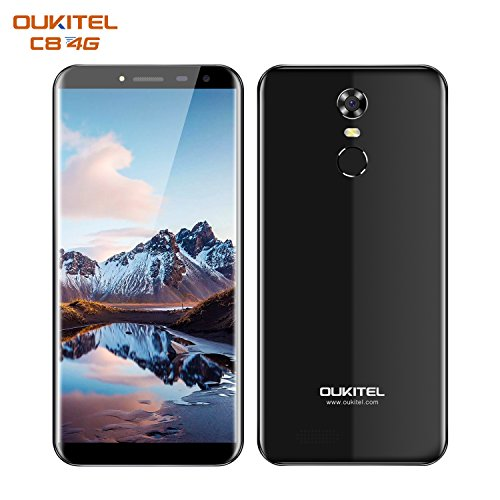 OUKITEL C8 Smartphone Libre 4G  Android 7 0  5 5  HD Pantalla 18 9  C  mara 13MP 5MP  Dual SIM  2GB RAM   16GB ROM  MT6737 Quad Core  Bater  a de 3000