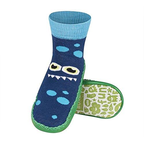 Baby Mokassin Slipper Socken mit Ledersohle Schöne Farbe - Passt bis zu 24 Monaten