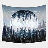 LOMYEN Musterdruck Tapisserie Wandbehang Tapisserie Wohnzimmer Dekorative DeckeStrandmatte Travel Isomatte,O72,150cmx100cm