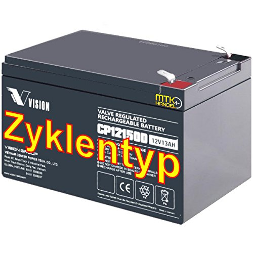 VISION CP12150D / 12V 15Ah (20HR) AGM Blei Akku Batterie Zyklentyp