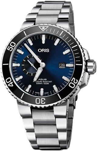 Oris 74377334135-0782405PEB Silver Steel 316 L Man Watch