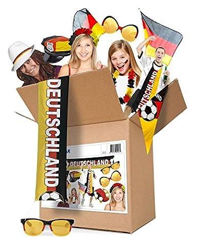 Folat 00243 - Partypaket Deutschland Fußball, Dekoration und Fan-Artikel