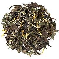 Aromas de Té - Té Blanco Pai Mu Tan Spring con Caléndula y Saúco a Granel Ideal para la Respiración Suave y Refrescante, 60 gr.