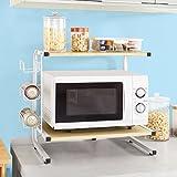 SoBuy® Soporte para microondas, estante, estantería de cocina, miniestante, So-FRG092-N