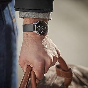 Nokia health Withings Activité Steel - Reloj Conectado con Seguimiento automático de Actividad, Acero y Cromo, Color Negro