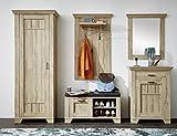 Stella Trading Garderobenset bestehend aus 5 Typen Holzdekor Gran Oak Hell 45 x 277 x 199 cm