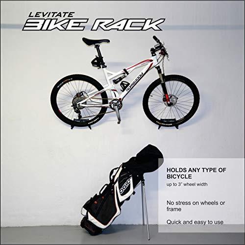 GLi (Negro) - Kit de Montaje en Pared Ajustable, Accesorios y Ganchos para Colocar la Bicicleta