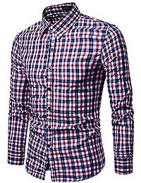fd0783a0ef5d Hemd Herren Slim Fit   Sannysis Karohemd Kariert Hemden Slim Fit  Trachtenhemd Super Modern Super Qualität
