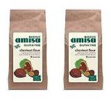 (2 PACK) - Amisa Gluten Free Organic Chestnut Flour| 350 g |2 PACK - SUPER SAVER - SAVE MONEY