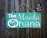 Holz-Plakette Personalisierte Ohana, personalisiertes Familien-Schild, personalisierte Hawaii, Hawaii, Hawaii, Strand, Zeichen, Symbol, 8x 18