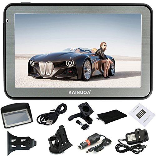 Kainuoa® 5 Zoll 8GB Europe Traffic GPS Navi Navigationsgerät mit kostenlosen lebenslangen Kartenupdates für ganz Europa PKW KFZ Auto Taxi Fahrspurassistent