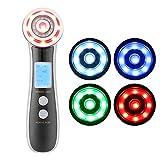 4-in-1 Dispositivo de Tonificadores Facial RF, Máquina de belleza micro vibración EMS para SPA, para blanqueamiento, eliminación de arrugas y espinilla y otros problemas de piel(Púrpura)