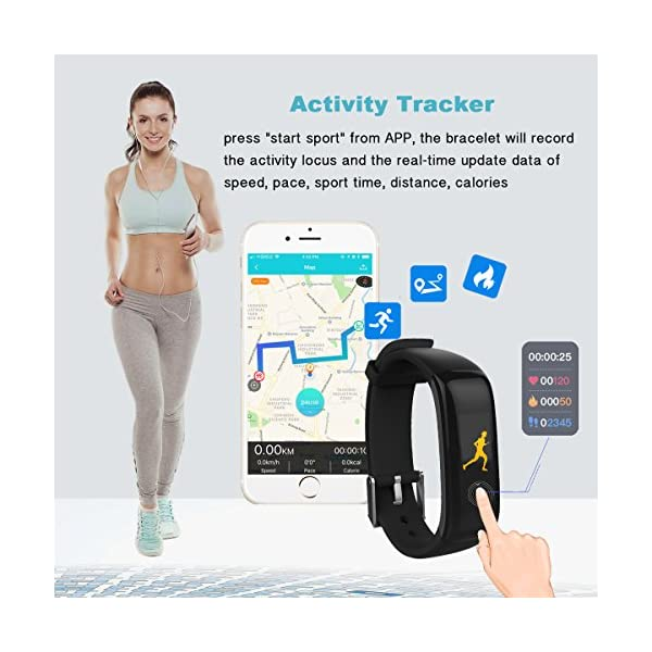 Virtoba Fitness Tracker With Color Touch Screen
