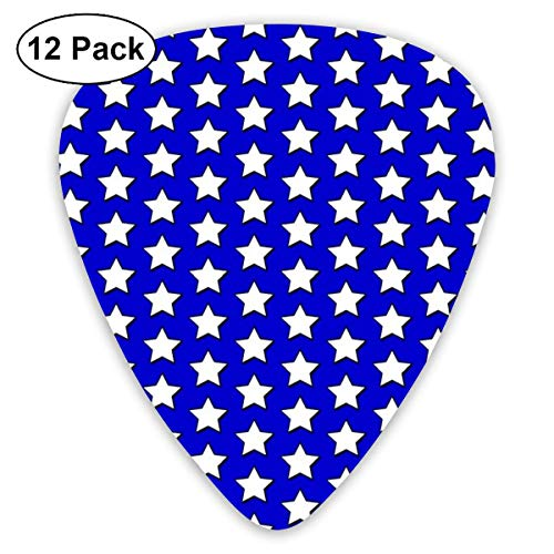 Americana Classic Celluloid Picks, 12-Pack, For Electric Guitar, Acoustic Guitar, Mandolin, And Bass -