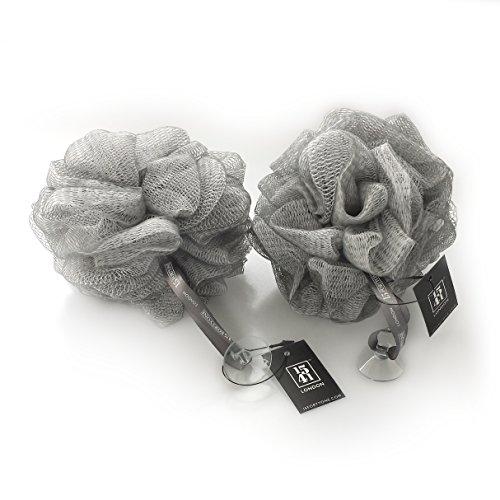Esponja exfoliante para baño y ducha de la marca 1541 London (gris plateado)