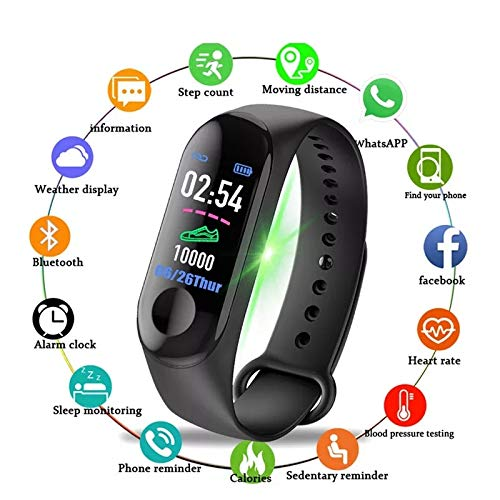 BLI M3-2019 Smart Bracelet Or M3 Band Color-Screen IP68 Fitness Tracker Blood Pressure Heart Rate Monitor Smart Band Smart Watch Men and Women for Android iOS