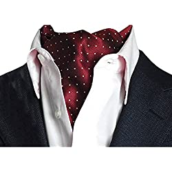 YCHENG Pañuelo Hombre Corbatas Moda Lunares Cravat Chalina para Banquete y Boda Fiesta A03