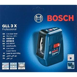 Bosch GLL 3X Professional Kreuzlinienlaser/Multilinienlaser mit 3 Linien