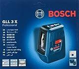 Bosch GLL 3X profesional nivel láser de líneas cruzadas con 3 líneas